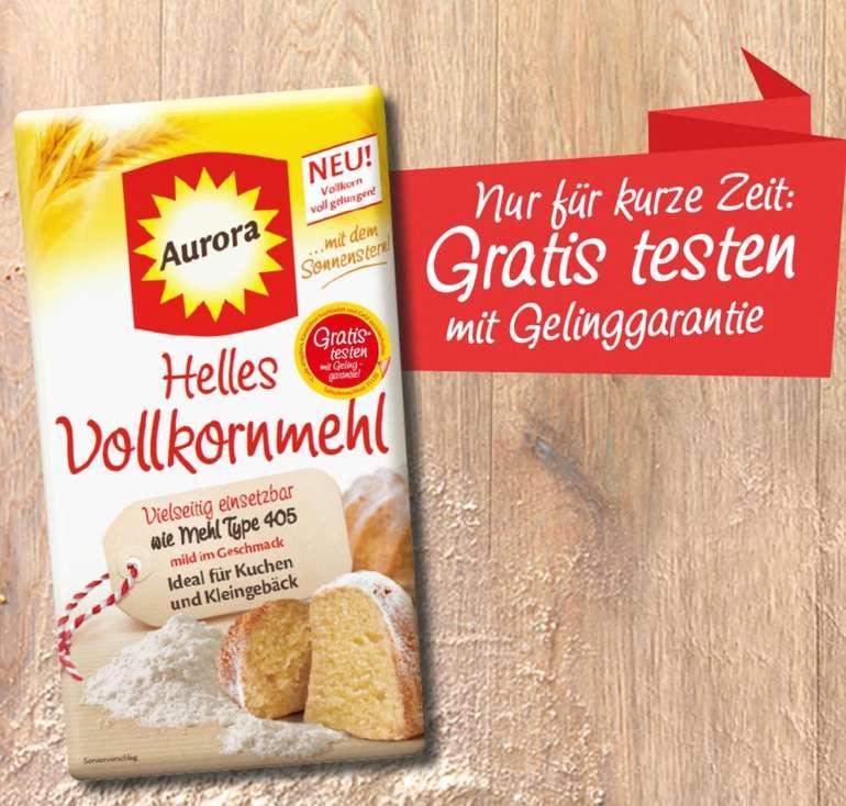 Cashback: Aurora Helles Vollkornmehl gratis testen dank Geld-zurück-Garantie