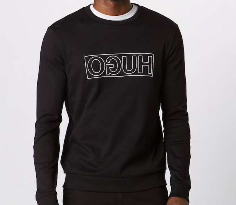 "Hugo Herren Sweatshirt ""Dicago-U6"" in schwarz für 48,52€ (statt 75€)"