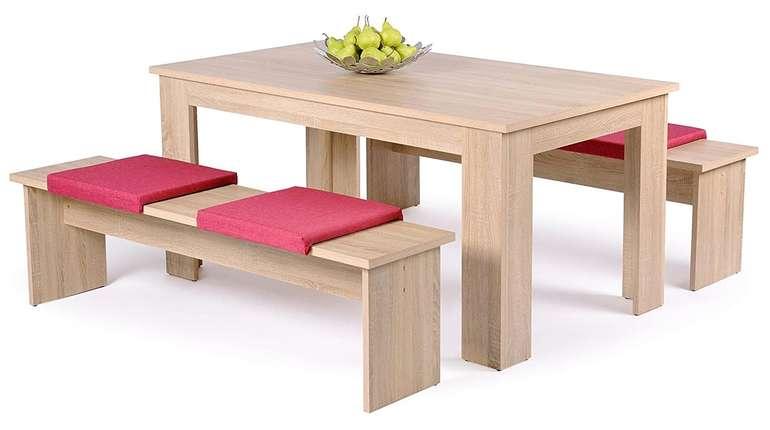 Tischgruppe München 140cm, Sonoma Eiche-NB für 102€ (statt 123€)
