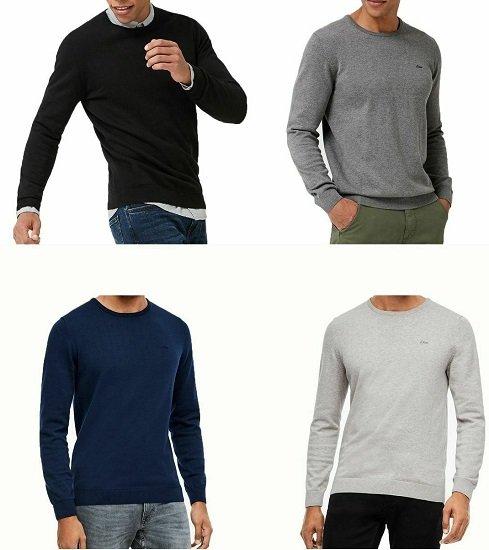 2er Pack s.Oliver Herren Pullover aus 100% Baumwolle für 37,98€ (statt 50€)