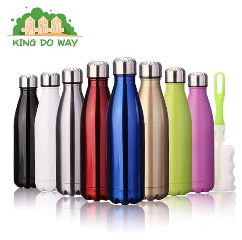King do Way - Doppelwandige Edelstahl Trinkflasche mit 500ml für 7,19€ inkl. Prime (statt 12€)