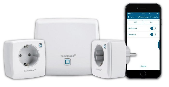 Homematic IP Starter-Set Licht mit Access-Point und 2 Schaltsteckdosen für 85€