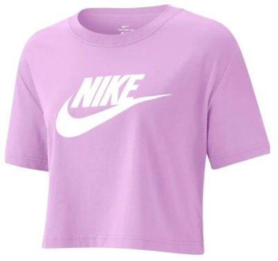 Nike Sportswear Essential Crop T-Shirt in lila/weiß für 19,92€ inkl. Versand (statt 23€)
