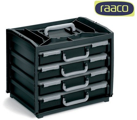 """Raaco Aufbewahrungsbox """"HandyBox 137225"""" mit 4 Sortimentskästen für 50,90€ (statt 70€)"""