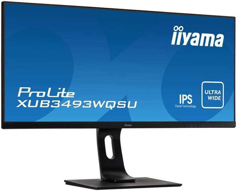 "Iiyama ProLite XUB3493WQSU-B1 34"" Monitor für 316€ inkl. Versand (statt 348€)"