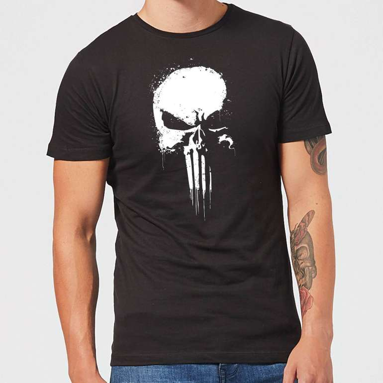 Marvel The Punisher Paintspray Damen- & Herren T-Shirt für je 10,99€ (statt 22€)