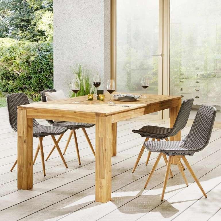 Bessagi Garden Akazien Tisch 'Henry' (ca. 180 x 90cm) für 150€ inkl. Versand (statt 340€)