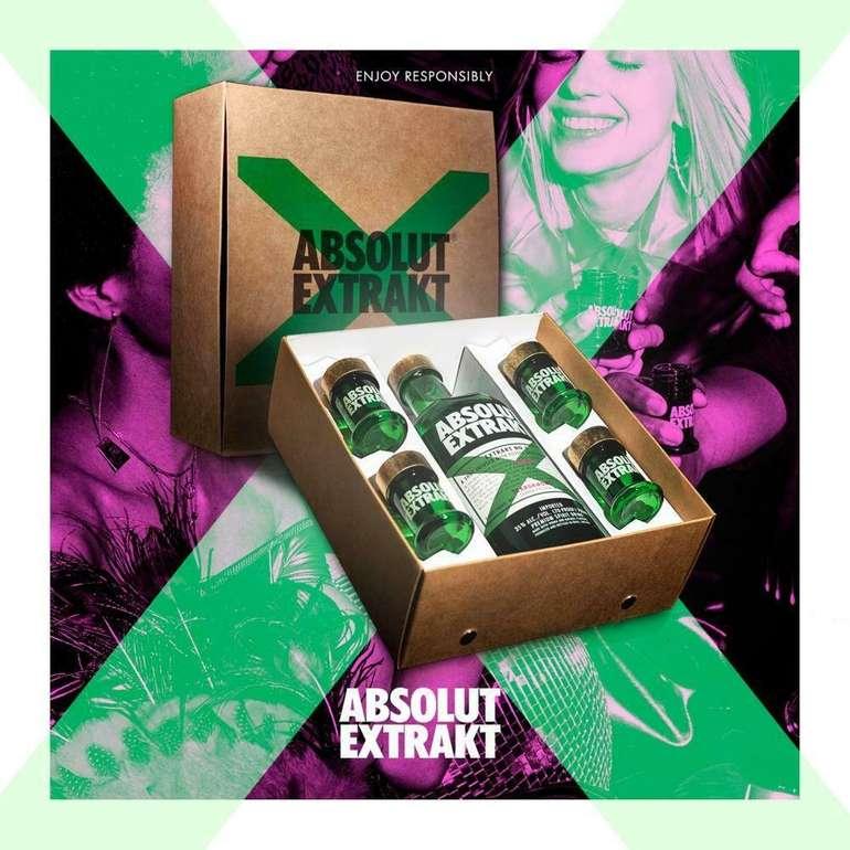 Absolut Vodka Extrakt (35%, 700ml) in Geschenkbox + 4 Shotgläser für 23,85€ inkl. Versand (statt 30€)