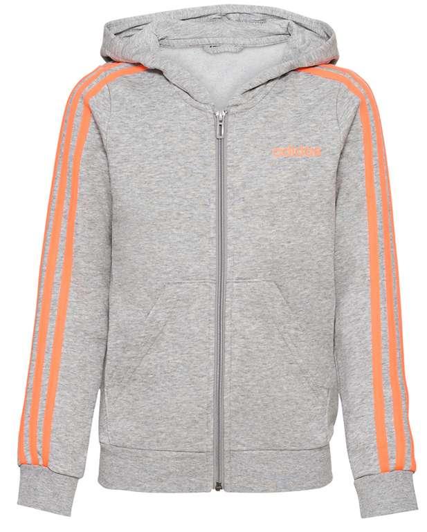 adidas Essentials 3 Stripes Full Zip Mädchen Kapuzen Jacke für 27,94€ inkl. Versand (statt 34€)