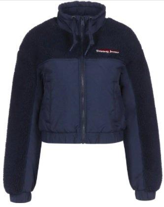 Tommy Jeans Cropped Fit Jacke mit Strukturmix für 89€ inkl. Versand (statt 120€)