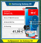 2x Samsung Galaxy S9 + Vodafone Smart XL (11GB LTE, Allnet, SMS-Flat) für 41,99€