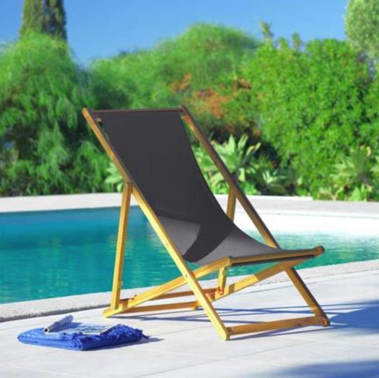 Bessagi Garden Strandsessel bzw. Gartenstuhl Molly aus Akazienholz für 26,17€ inkl. Versand (statt 50€)