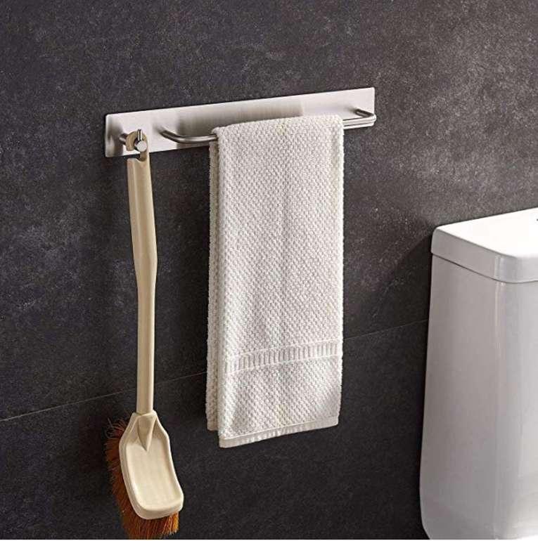 Selbstklebender Ruicer Handtuchhalter mit Haken aus Edelstahl für 11,39€ (Prime)