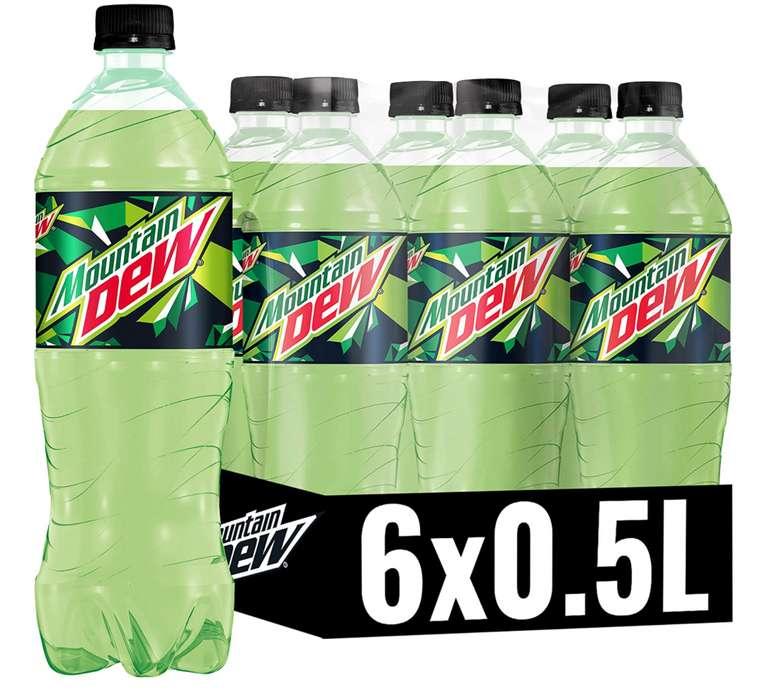 6x Mountain Dew Regular Koffeinhaltige Limonade (0,5 Liter) für 2,99€ inkl. Prime Versand (statt 5€)