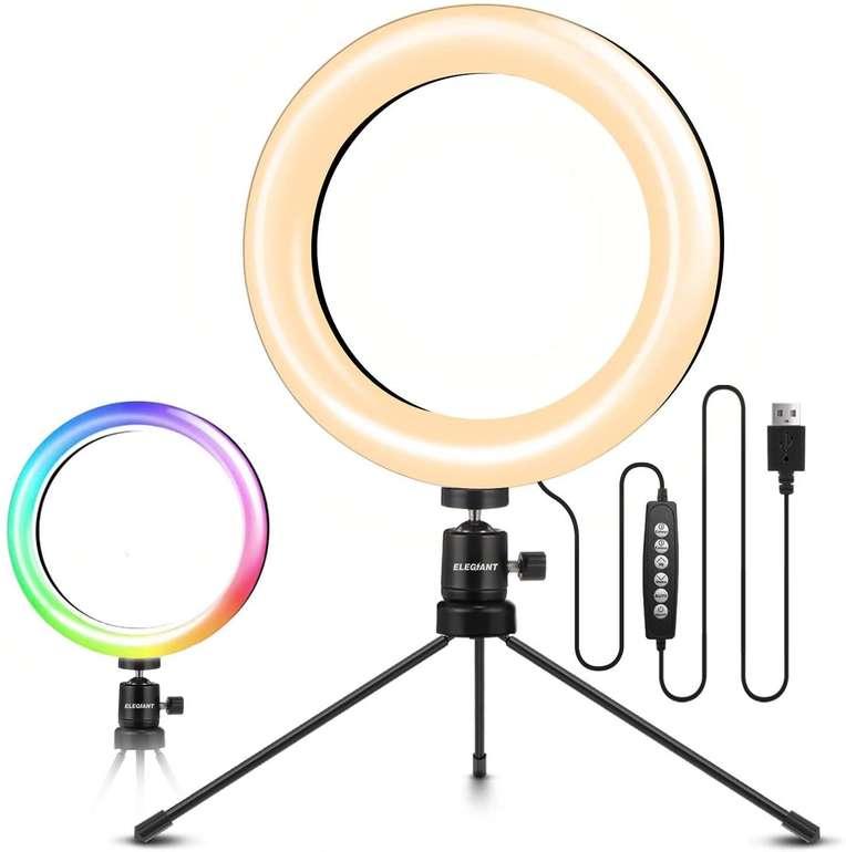 """Elegiant LED-Ringlicht 8"""" für 12,70€ inkl. Prime Versand (statt 20€)"""