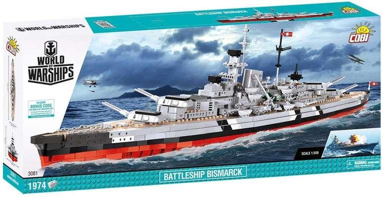 Cobi (3081) World of Warships Battleship Bismarck Limited Edition Modellbau-Set für 56,47€ (statt 109€)