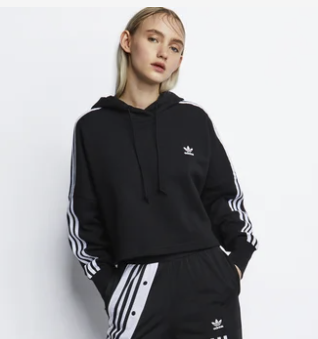 adidas Essentials Cropped Hoodie Women in Schwarz für 29,99€inkl. Versand (statt 44€)
