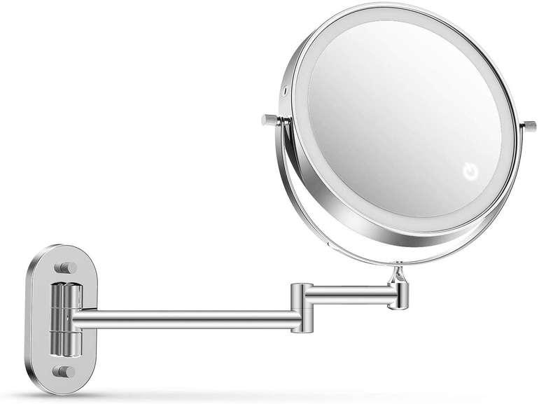Alvorog LED Kosmetikspiegel (Touchscreen, 1x/5x Vergrößerung) für 17,49€ (statt 35€)