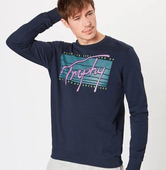 Yourturn Sweatshirt in dunkelblau für 11,82€ inkl. VSK (statt 15€)