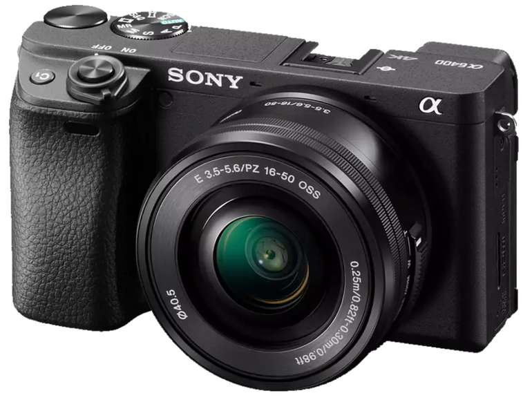 Sony Alpha 6400 Kit (ILCE-6400L) Systemkamera mit 24.2 Megapixel Kit für 828,58€inkl. Versand (statt 949€)