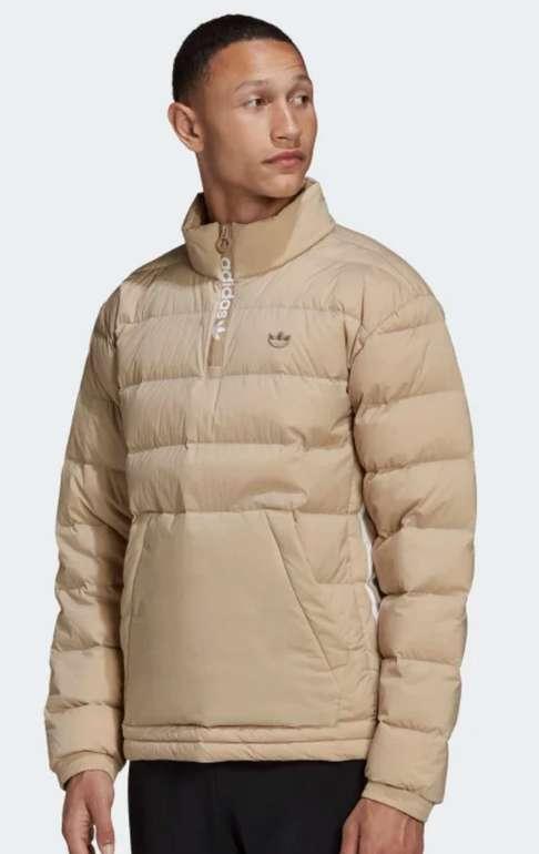 Adidas Lightweight Overhead Half-Zip Daunenjacke in Beige für 63,72€inkl. Versand (statt 88€)