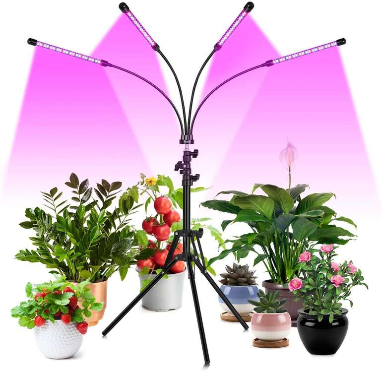 Fredi LED Pflanzenlampe (40W, 360° drehbar, 6 Helligkeiten) für 21,20€ inkl. Prime Versand
