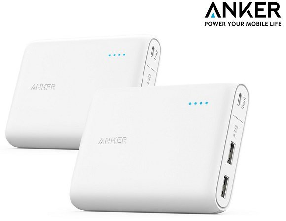 Doppelpack Anker PowerCore mit 13000mAh Powerbank für 35,90€ (statt 69,75€)