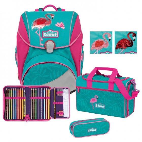 Scout Alpha Schulranzen-Set 4tlg. glitter flamingo inkl. Geschenke für 189,84€ (statt 211€)