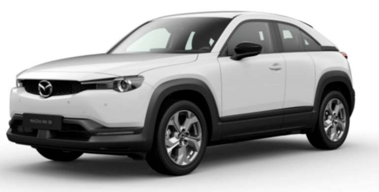 Gewerbeleasing: Mazda MX-30 e-Skyactive mit 145 PS für 79€netto mtl. (BAFA, LF: 0.24, Überführung: 850€)
