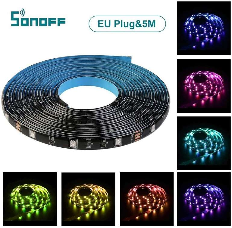 Lixada RGB LED Streifen - 5 Meter (kompatibel mit Alexa und Google Assistant) für 15,99€ inkl. Versand (statt 32€)