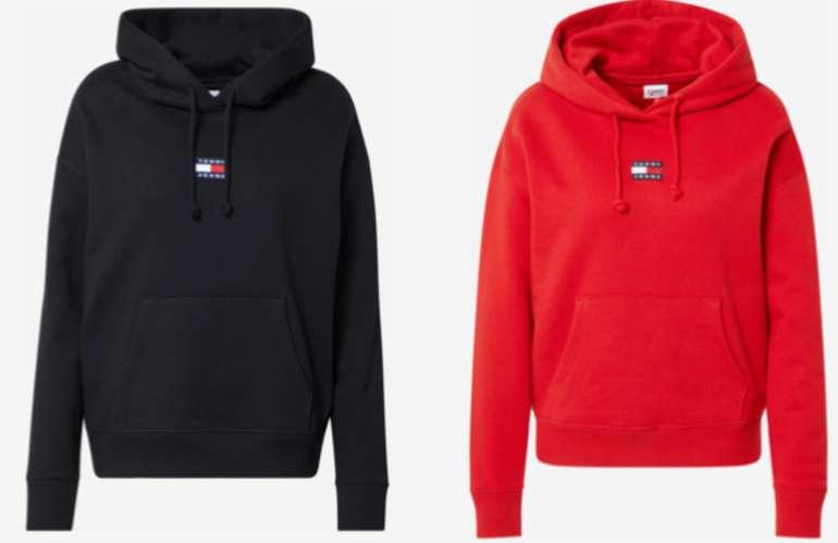Tommy Jeans Sweatshirt in rot und schwarz für 39,96€ inkl. Versand (statt 65€)