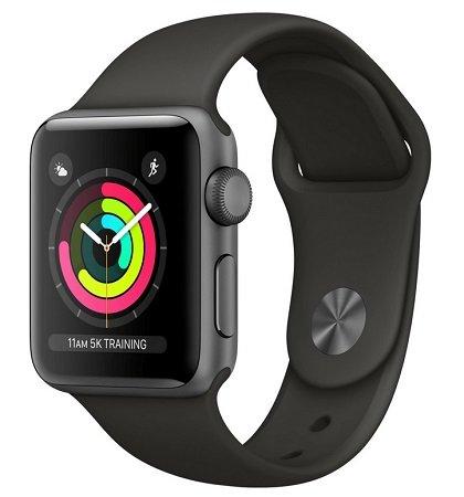 Apple Watch Series 3 (GPS) 38mm Schwarz für 263,99€ inkl. Versand
