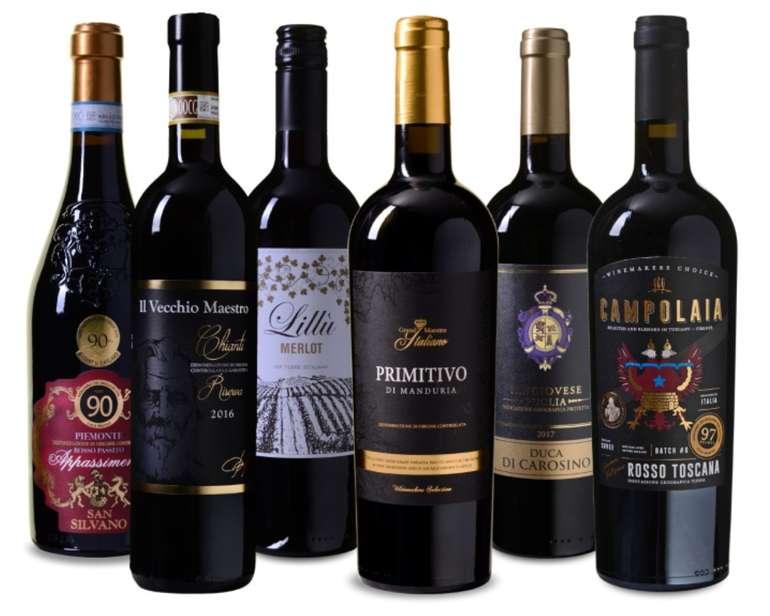 Wein Probierpaket Italia mit 6 Flaschen Wein für 49,99€ inkl. Versand (statt 79€)