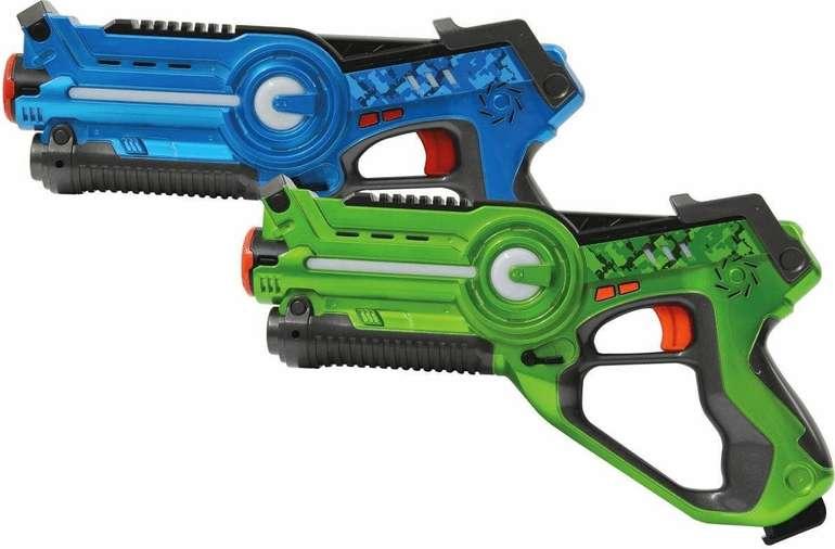 Jamara Impulse Lasertag-Set Laser Gun Battle (blau/grün) für 25,98€ inkl. Versand (statt 43€)