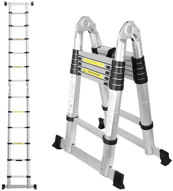 Bomt Teleskop- bzw. Klappleiter in verschiedenen Größen z.B. 3,8 Meter für 65,09€ inkl. Prime Versand (statt 93€)