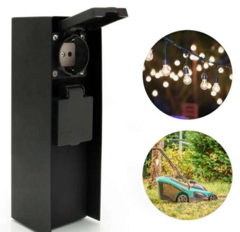 LED Universum Garten Steckdose Energie Säule aus Edelstahl für 29,99€inkl. Versand (statt 40€)