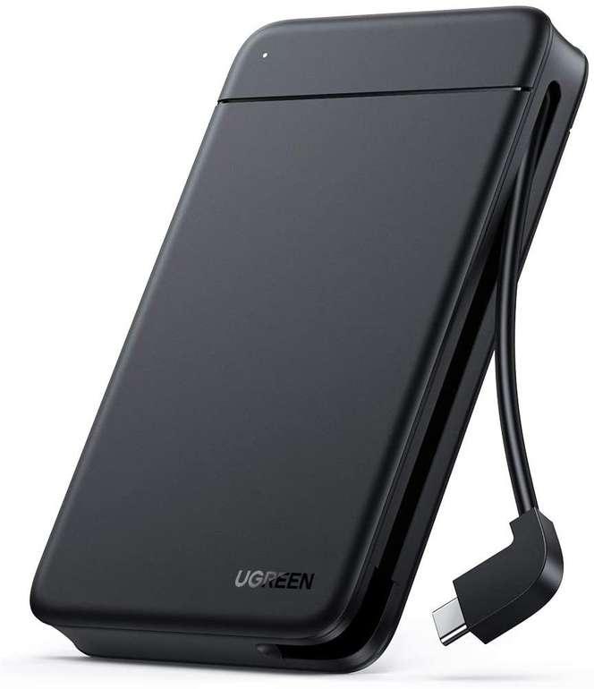 Ugreen 2,5 Zoll USB C Festplattengehäuse für 11,99€ inkl. Prime Versand (statt 17€)