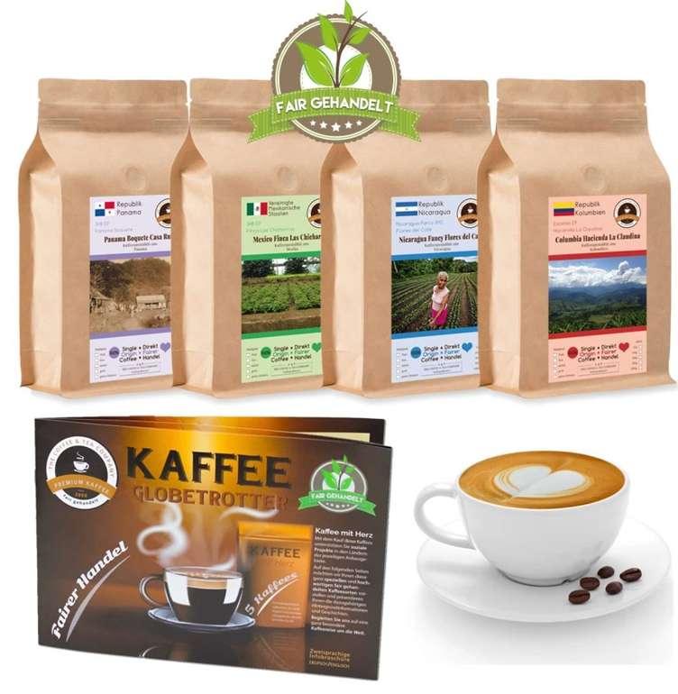 Helfen und Genießen: 4kg fair gehandelte Premium-Kaffees aus Süd- & Mittelamerika (ganze Bohnen) für 54,90€