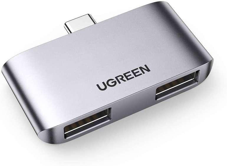 Ugreen USB C auf USB A Adapter bzw. Mini Hub für 8,99€ inkl. Prime Versand (statt 13€)