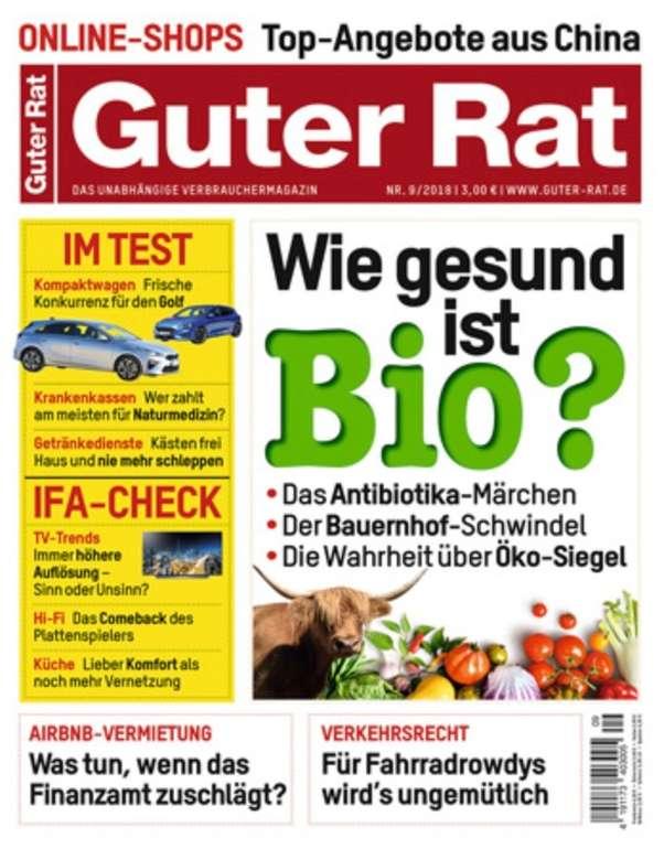 """7 Ausgaben """"Guter Rat"""" für 23,10€ + 15€ Verrechnungsscheck"""