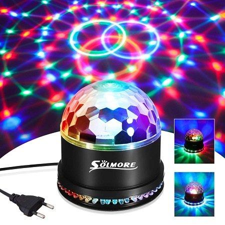 Solmore GN-06 Discokugel mit 51 LEDs, 7 Farben & 2 Beleuchtungmodi für nur 9,99€