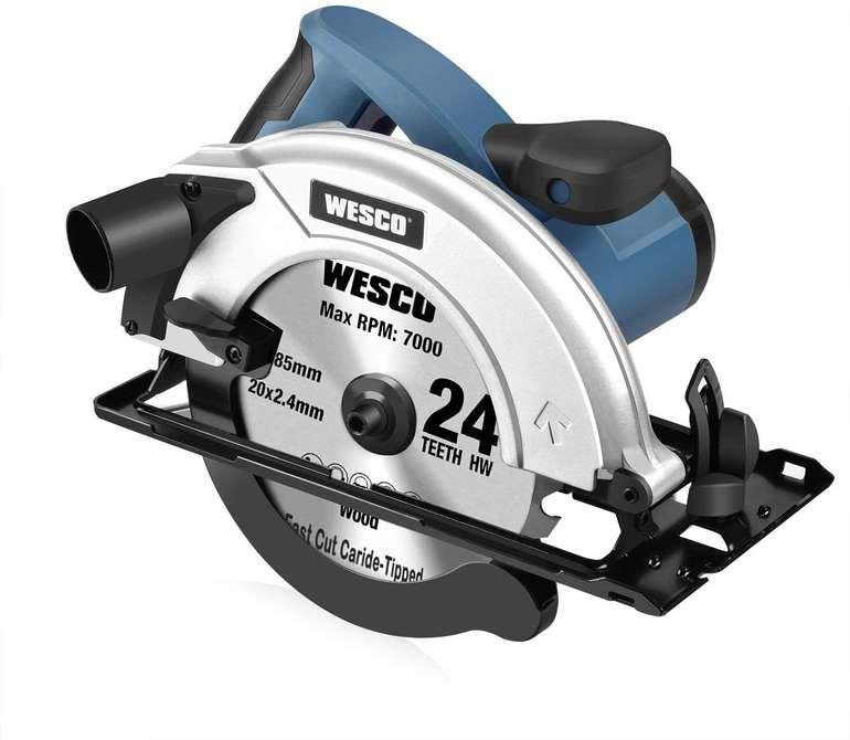 Wesco Handkreissäge (1400W, 5800 rpm) für 52€ inkl. Versand (statt 80€)