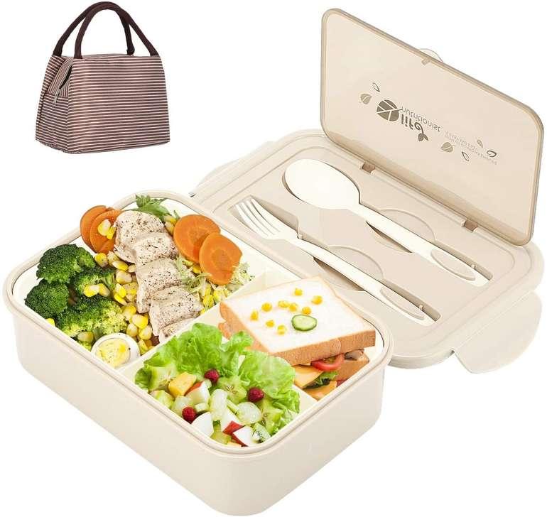 Aitsite Bento Box mit Besteck (1400ml) für 8,99€ inkl. Prime Versand (statt 15€)