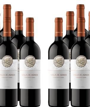 12er Paket Villa de Adnos - Bobal-Tempranillo - Utiel-Requena DOP Wein für 39,96€