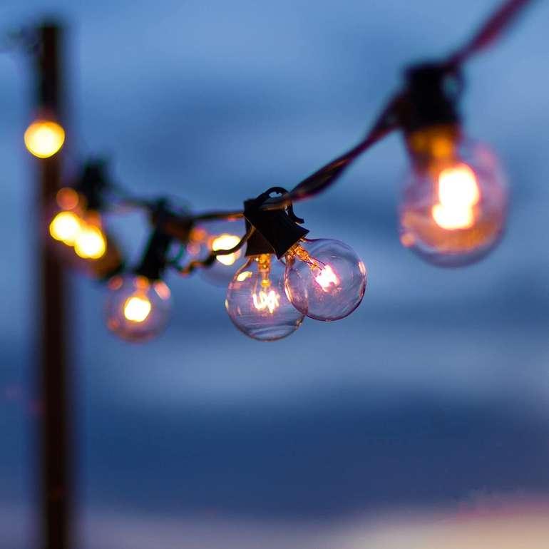 OxyLED 9m Glühbirnen Lichterkette (IP44) für 15,99€ inkl. Versand (statt 20€)