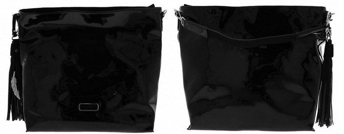 WAIPUNA Damen Handtasche Schwarz (Lack-Optik) für 17,99€ inkl. VSK