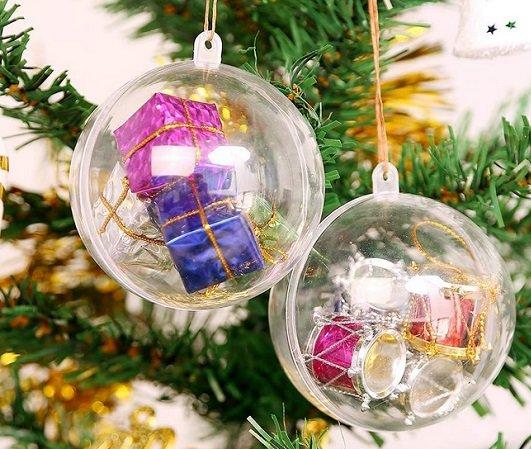 Uten - 20 Weihnachtskugeln mit 8 cm Durchmesser für 7,19€ mit Prime