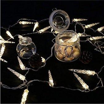 Huigou - 10m Weihnachts- LED-Lichterkette mit Eiszapfen für 7,69€ (statt 11€)