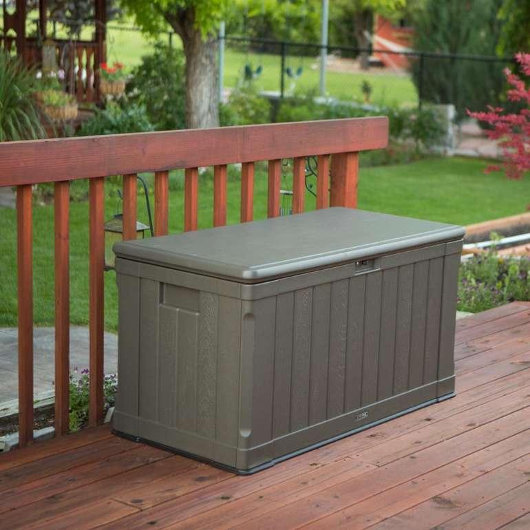 Lifetime Kissen Aufbewahrungsbox für Innen- oder Außeneinsatz (440 Liter) nur 133,95€