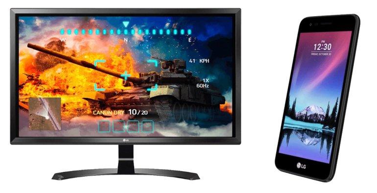 "LG 27"" 4K Monitor (27UD58B) für 289,99€ + LG K4 (2017) 8 GB Handy kostenlos dazu"
